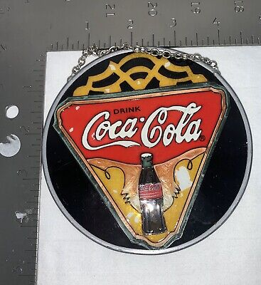 1997 Coca Cola large hand painted sun catcher 'symbol of friendship' collectible