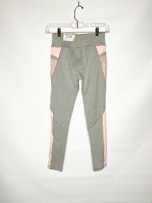 Justice Active Girls' Pink/Gray High Waist Leggings, Size 12 - NWT