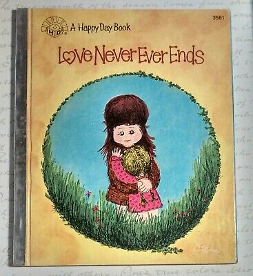 Vintage Childrens Book, A Happy Day Book, Love Never Ever Ends, Hutson, 1 Cor 13