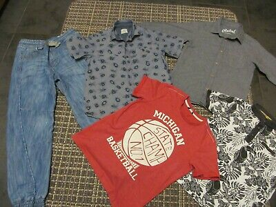 bundle of boys size 8-9 clothing, jeans, shirts and t-shirts