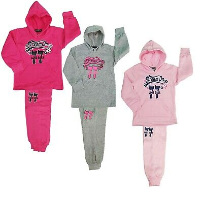 New Kids Girls Tracksuit Jog Set Dream On Hooded Top & Matching Jogg 2pcs set