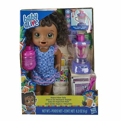 Baby Alive Magical Mixer Baby Doll Berry Shake Blender Accessories (Black Hair)