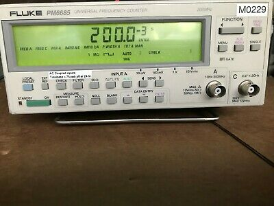 Fluke PM6685 Frequency Universal Frequency Counter Analyzer imcluded 3 options