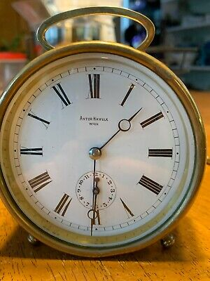 Antique 1800's French Carriage Drum Alarm Clock, Nice!