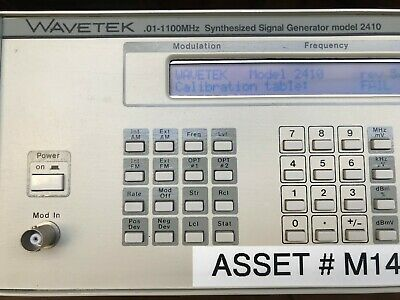 Wavetek 2410 0.01-1100MHz Synthesized Signal Generator