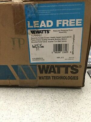"""Watts 1"""" LF919-QT Bronze Reduced Pressure Zone Assembly FNPT Connection"""