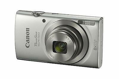 Canon PowerShot ELPH180 20.0MP 8x Optical Digital Camera Silver - FREE SHIPPING
