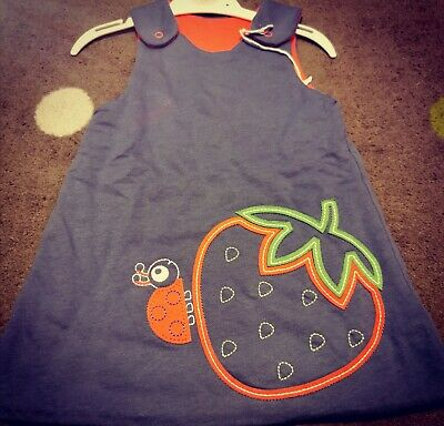 Cute New Baby Girls Ladybird And Strawberry Soft Touch Dress Age 1 Years Size 12