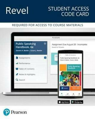 REVEL for Public Speaking Handbook - Access Card (6th Edition) (What's Ne - GOOD