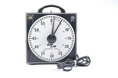 EXC++ GRALAB MODEL 171 DARKROOM TIMER, TESTED, WORKS GREAT, w/HANDLE