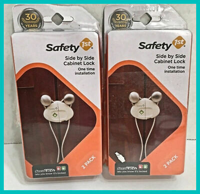 Pack of 4 Safety 1st ,Side by Side Cabinet Lock by SecurTech,FAST FREE SHIPPING