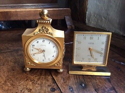 Two Small Vintage Clocks - Angelus and Looping - Repair Or Spares - One Working