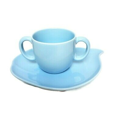 Tiffany Tots Baby Blue Whale Plate and Mug Soup Cup set