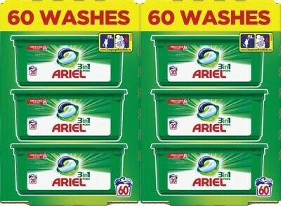 Ariel 3-in-1 Original Washing Pods Liquid Gel Laundry Capsules - 120 Washes