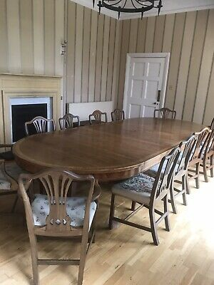 Antique Mahogany Set Of 12 Original Victorian English Dining Chairs