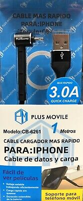 PLUS MOVILE Cable Lightning 3.0A 1M Quick Charge(carga Rápida) Para Apple