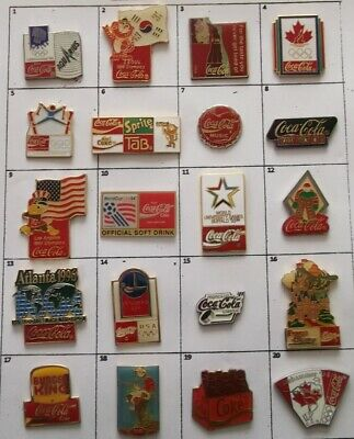 Different Coke Coca-Cola Olympic Sport Or Else Pin (Your Choice) # G833