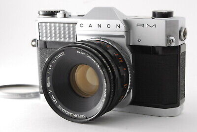 EXC+++++ Canon Canonflex RM W/ SUPER CANOMATIC LENS 50mm f/1.8 Light Meter WORKS