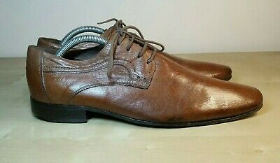 Minelli - UK 7 Men's Brown Leather Derby Lace Up Shoes EU 41
