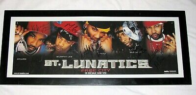Nelly - St. Lunatics  Signed Autographed Free City Promo Poster 22X8 - Rare!