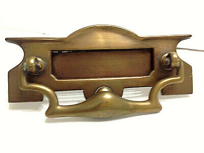 Brass Letterbox and Door Knocker English 1908 Antique