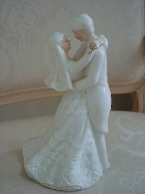 Very Unique Bride & Groom Wedding Cake Topper ***Must See*** New Old Store Stock