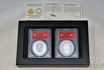 2018 Canada Maple Leaf $5 1 Oz Silver Coins Reverse PROOF PCGS PR70 DCAM 17398