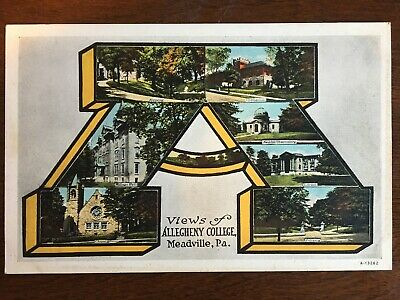 Letter A View of Allegheny College, Meadville, PA Lettermen D12