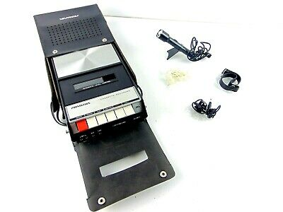 Vintage Soundesign Cassette Recorder 7621 With Accessories & Black Hard Case