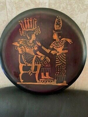 Vintage Egyptian Hand Made Copper & Brass Wall Plaque Plate.From Egypt