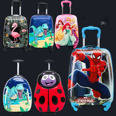 Hard Shell Kids Character Holiday Luggage 4 Wheel Trolley Suitcase Cabin Bag