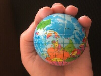 6x Earth Stress Ball globe reliever ADHD autism toy