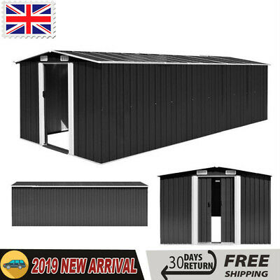 Large Steel Garden Shed Bike Unit Storage Workshop Building Tools Box Container