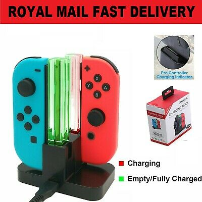 For Nintendo Switch Joy-Con 4 Port Controller Grip Charger Charging Dock Stand