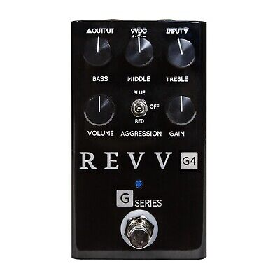 Revv Amplification G4 Distortion Pedal. Limited Edition Black!