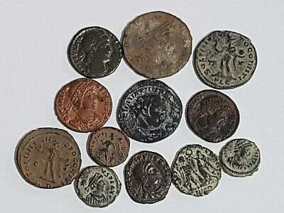 Extremely Rare Top Lot Of 12 Ancient Roman  Bronze Coins Various Emperors