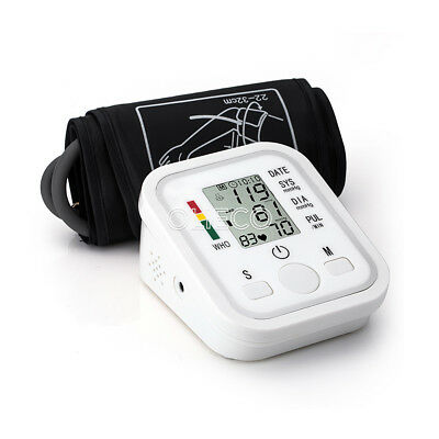 Automatic LCD Digital Upper Arm Blood Pressure Cuff Monitor Pulse Rate Machine