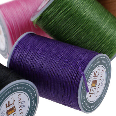 Waxed Thread 0.8mm 90m Polyester Cord Sewing Machine Stitching For Cr JF