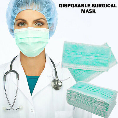 1 - 100 X Disposable Face Surgical Medical Mask Dental Anti Dust Flu Mouth Face