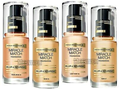 MAX FACTOR MIRACLE MATCH BLUR & NOURISH FOUNDATION 30ml CHOOSE YOUR SHADE **NEW*
