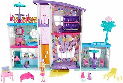 Polly Pocket  Poppin Party Pad, Mega transforming playhouse Full with Surpises