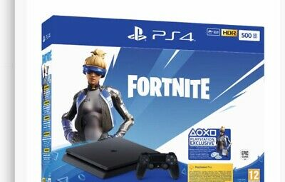 SONY PLAYSTATION PS4 SLIM 500GB CHASSIS F +Voucher Fortnite 2019