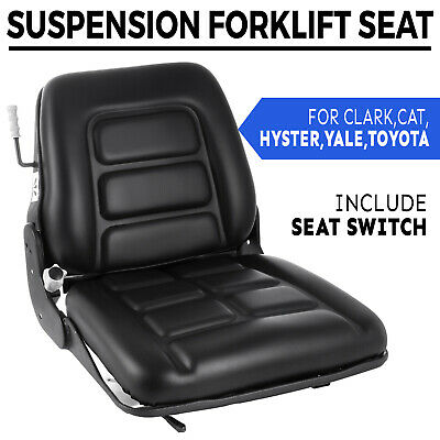 Universal Vinyl Forklift Suspension Seat For Clark Cat Hyster Yale Toyota Easy
