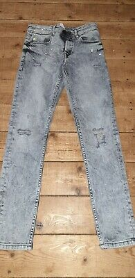 Boys Next Skinny Jeans Age 12 Years Blue Adjustable Waist. New!!