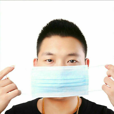 50 x Disposable Face Mask Surgical Medical Dental Mask Industry Loop Dust Mask