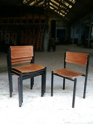 Vintage Welsh Plywood Stacking Chairs - Cafe Bar Restaurant - 20 Available