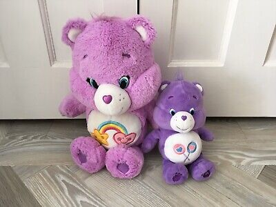 "Care Bears 12"" Plush Teddy Bear Best Friend Bear & 6"" Care Bear Bundle - Used"