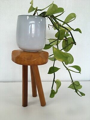 Handmade Wooden Toad Stool Plant Stand Wood Small Display Table