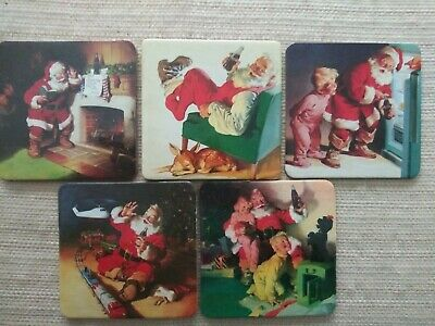 Classic 5pc Santa Coca-Cola Coasters