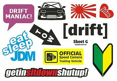 REFLECTIVE NA Add Oil Stickers Japanese Drift Racing Car JDM Style